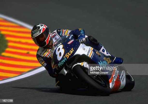 Carlos Checa of Spain in action on his Movistar Honda Pons during the Italian Motorcycle Grand Prix at Mugello Italy Mandatory Credit Mike Cooper...