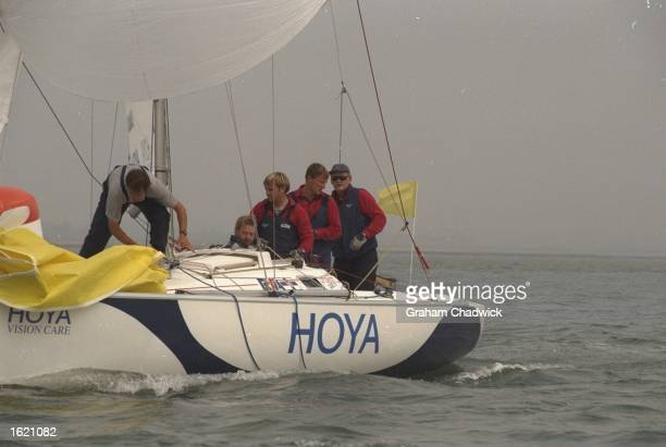 Chris Law of Great Britain and his team go on to face Morten Henriksen of Denmark in the final of the Match Racing Championships of the Hoya Royal...