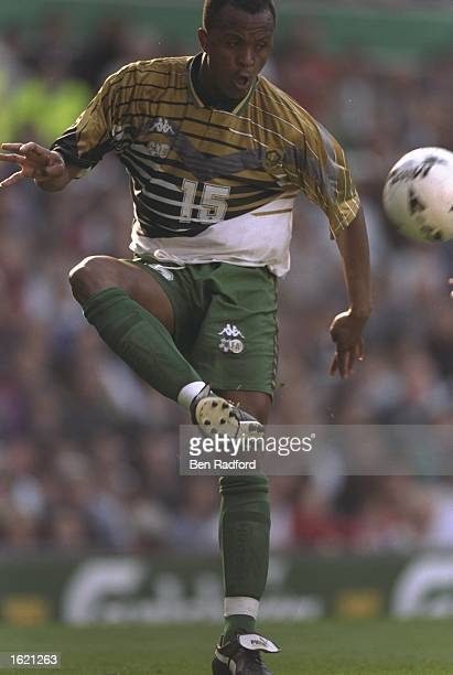 Doctor Khumalo of South Africa in action during the International Friendly against England at Old Trafford in Manchester England England won 21...