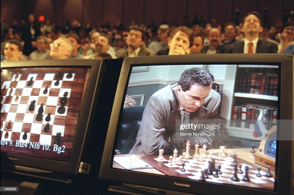 Deep Blue Computer V Garry Kasparov : News Photo