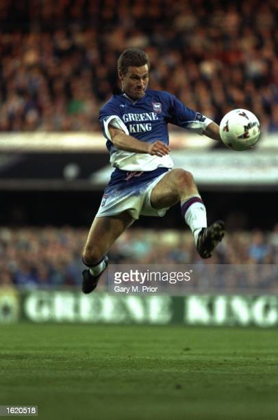 Niklas Gudmunsson of Ipswich Town in action during the Division One Play Off Second Leg against Sheffield United at Portman Road in Ipswich England...