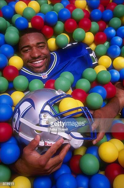 Anthony Simmons of the Seattle Seahawks poses for a portrait during the Pinnacle NFL Rookie Shoot at the Citrus Bowl in Orlando Florida Mandatory...