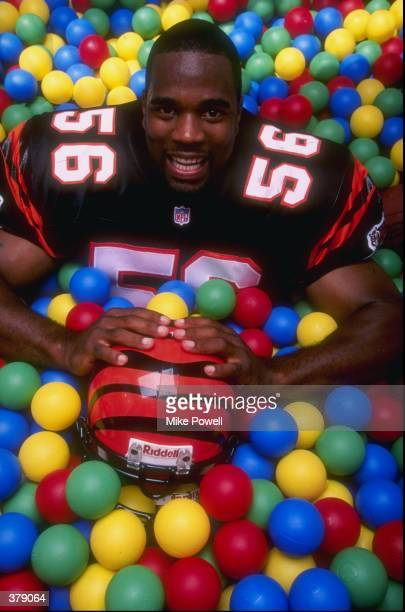 Brian Simmons of the Cincinnati Bengals poses for a portrait during the Pinnacle NFL Rookie Shoot at the Citrus Bowl in Orlando, Florida. Mandatory...