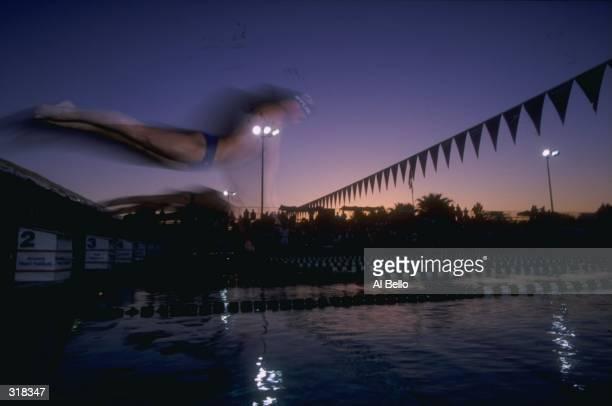 General ambiance during day 2 heats of the US West Nortel Swimfest at the Phoenix Swim Club in Phoenix Arizona Mandatory Credit Al Bello /Allsport