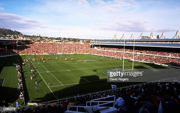 General view of Eden Park during the Super 12's final between Canterbury Crusaders and Auckland Blues in Auckland, New Zealand. Canterbury Crusaders...