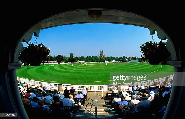 General view of the New Road ground during a match between Worcester and South Africa in Worcester England Mandatory Credit Adrian Murrell/Allsport