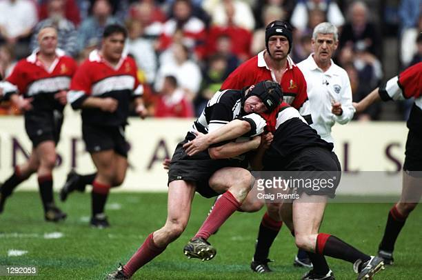 Iain Fullarton of Kelso charges forward during the Tennents Velvet Cup final against Glasgow Hawks at Murrayfield in Edinburgh, Scotland. Glasgow...