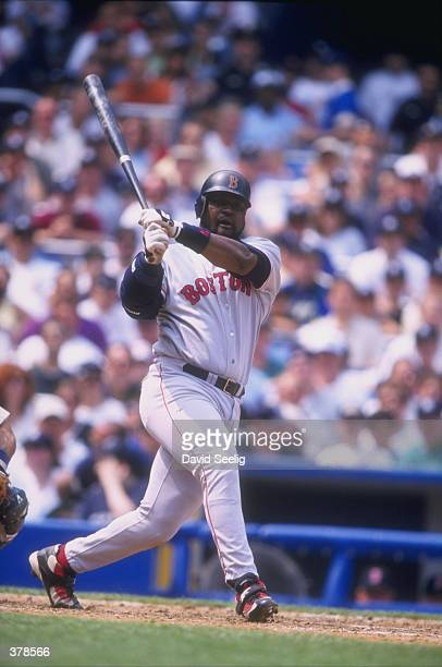 Mo Vaughn of the Boston Red Sox in action during a game against the New York Yankees at Yankee Stadium in the Bronx, New York. The Red Sox defeated...