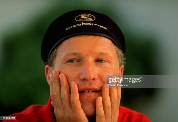 Portrait of Per-Ulrik Johansson of Sweden during the Volvo PGA Championship at Wentworth Golf Club in Surrey, England. \ Mandatory Credit: David...