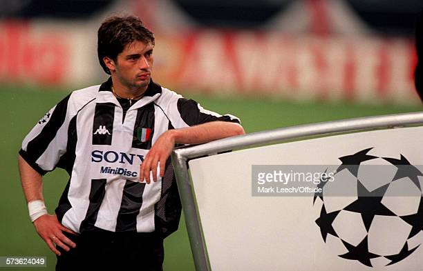 20 May 1998 UEFA Champions League Final Juventus v Real Madrid Filippo Inzaghi of Juventus looks dejected after losing the final