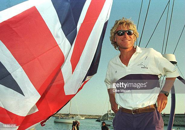 W60 Silk Cut skipper Lawrie Smith of England in La Rochelle France after his second place finish in leg 8 of of the Whitbread Round the World race...
