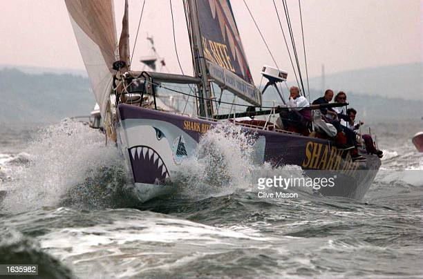W60 Silk Cut skippered by Lawrie Smith of England in the Solent at the end of the ninth and final leg of the Whitbread Round The World Race for the...