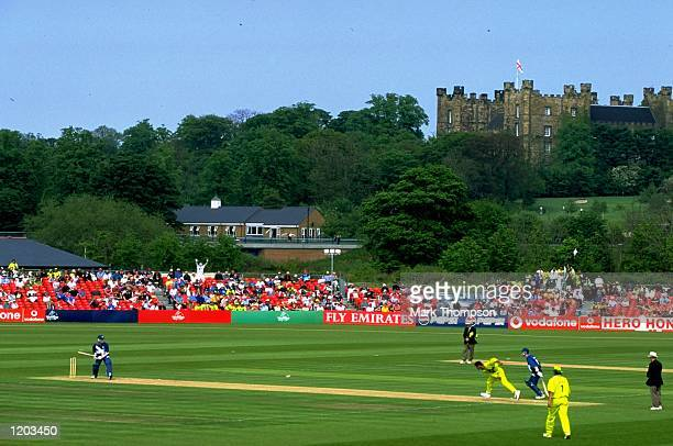 A general view of the Cricket World Cup Group B match between Scotland and Pakistan played at the Riverside Stadium in ChesterleStreet England...