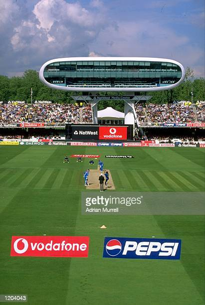 A general view of the new Lords Press centre during the opening Cricket World Cup Group A match between England and Sri Lanka played at Lords in...