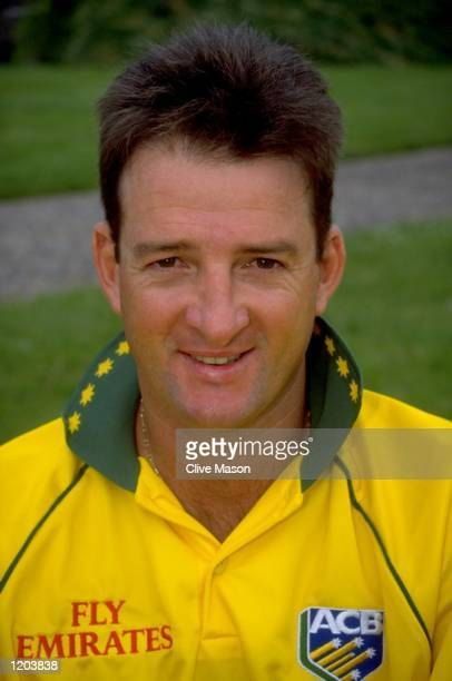 A portrait of Mark Waugh of the Australia World Cup Cricket Squad taken in Cardiff Wales Mandatory Credit Clive Mason /Allsport
