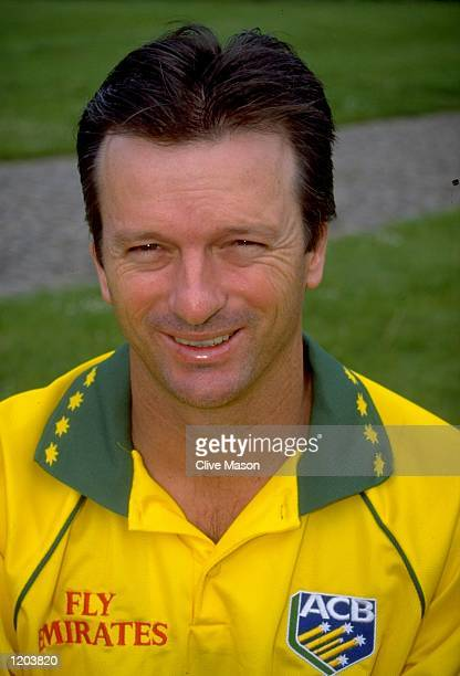 A portrait of Steve Waugh of the Australia World Cup Cricket Squad taken in Cardiff Wales Mandatory Credit Clive Mason /Allsport