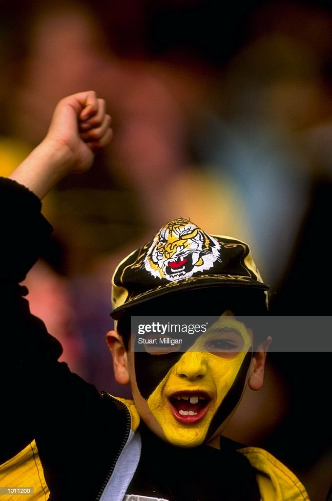 A Richmond fan during the Round 6 AFL Football match between Richmond and Essendon played at the MCG in Melbourne, Australia. \ Mandatory Credit: Stuart Milligan /Allsport