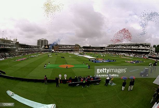Balloons are released at the opening ceremony of the Cricket World Cup at the Lords Cricket Ground in London England Mandatory Credit Laurence...