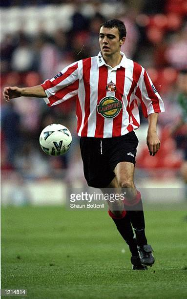 Gavin McCann of Sunderland in action during the 100th League Championship Challenge match against Liverpool played at the Stadium of Light in...