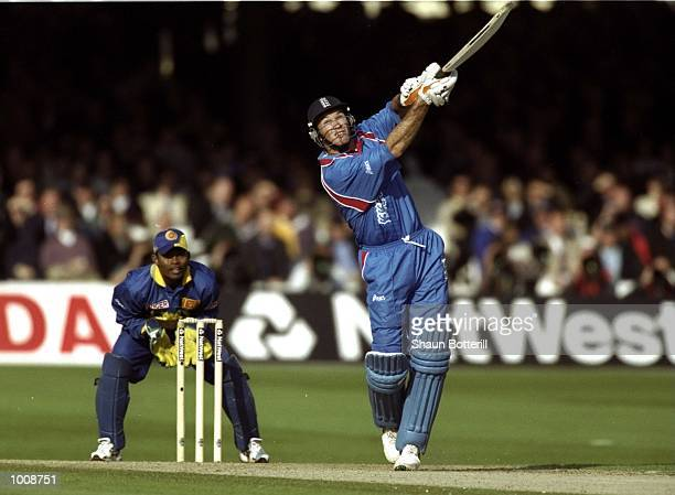 Graeme Hick of England batting during the Cricket World Cup Group A match against Sri Lanka played at Lord's in London England England won by 8...