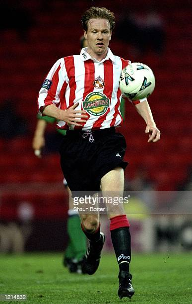 Jody Cruddock in action during the 100th League Championship Challenge match against Liverpool played at the Stadium of Light in Sunderland England...