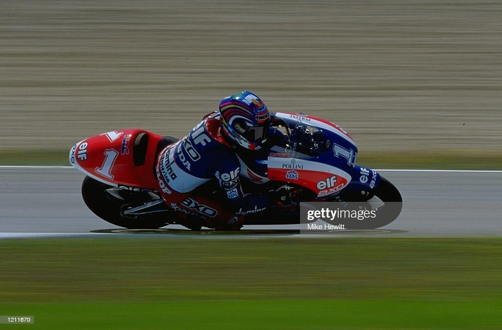 Loris Capirossi races his Honda 250 at the FIM Spanish Grand Prix Motorbike World Championships held in Jerez, Spain \ Mandatory Credit: Mike Hewitt /Allsport
