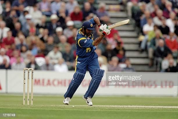 Marvan Atapattu of Sri Lanka on his way to 52 in the World Cup Group A game against Kenya at Southampton in England Sri Lanka won by 45 runs...