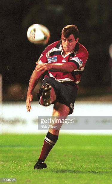 22 May 1999 Nathan Spooner of Queensland kicks during the Super 12 semifinal game between the Queensland Reds v Canterbury Crusaders at Ballymore...