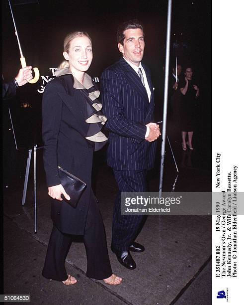 May 1999 New York City The Newman's Own / George Award John Kennedy Jr Wife Carolyn Bessette
