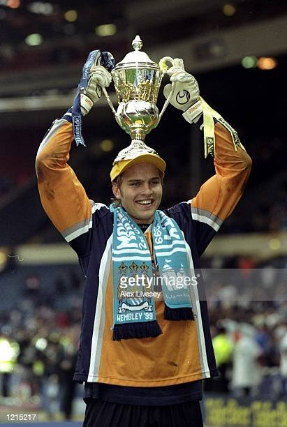 Nicky Weaver of Manchester City celebrates victory after the Nationwide Division Two Play-Off Final match against Gillingham played at Wembley...
