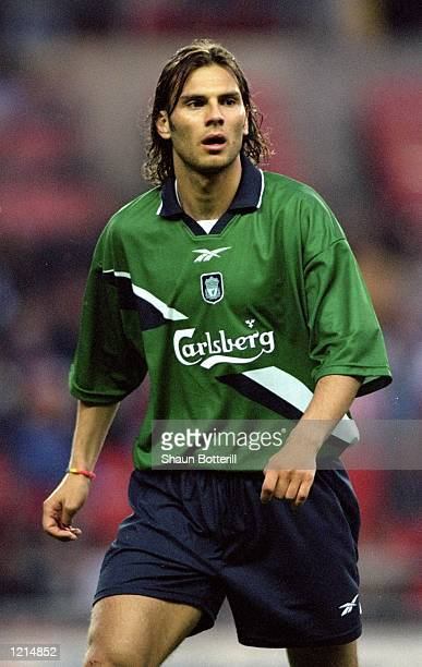 Patrik Berger of Liverpool in action during the 100th League Championship Challenge match against Sunderland played at the Stadium of Light in...