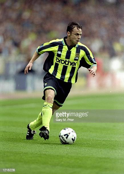 Paul Dickov of Manchester City in action during the Nationwide Division Two Play-Off Final match against Gillingham played at Wembley Stadium in...