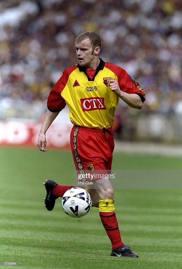 Peter Kennedy of Watford in action during the Nationwide Division One Play-Off Final match against Bolton Wanderers played at Wembley Stadium in London, England. The match finished in a 0-2 victory for watford and they gained promotion tothe premiership. \ Mandatory Credit: Phil Cole /Allsport
