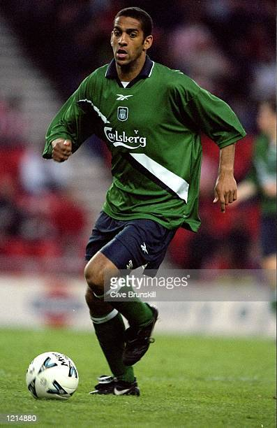 Phil Babb of Liverpool in action during the 100th League Championship Challenge match against Sunderland played at the Stadium of Light in Sunderland...