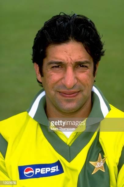 Portrait of Wasim Akram of Pakistan Mandatory Credit Mark Thompson /Allsport