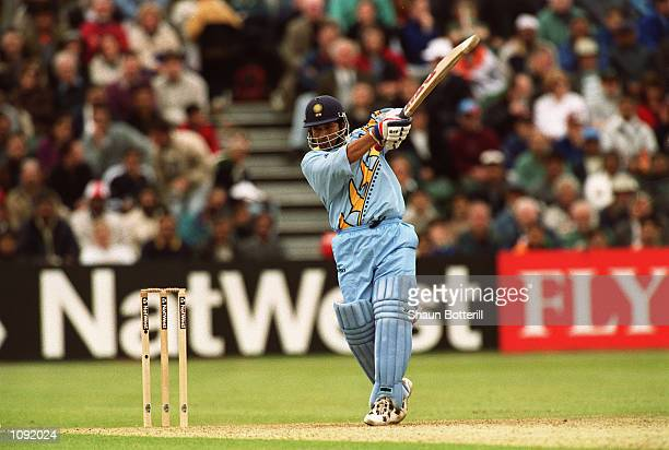 Sachin Tendulkar of India bats during the Cricket World Cup Group A match against Kenya played in Bristol England India won the game by 94 runs...
