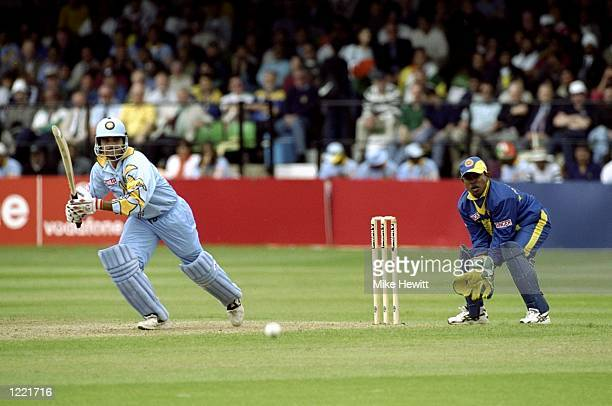 Saurav Ganguly of India on his way to 183 in the World Cup Group A game against Sri Lanka at Taunton in England India won by 157 runs Mandatory...