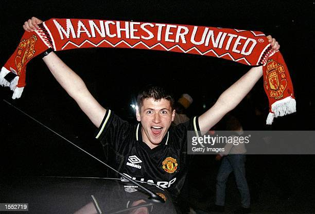 Scenes of jubilation in Manchester as United beat Bayern Munich in the UEFA Champions League Final at the Nou Camp in Barcelona United scored twice...