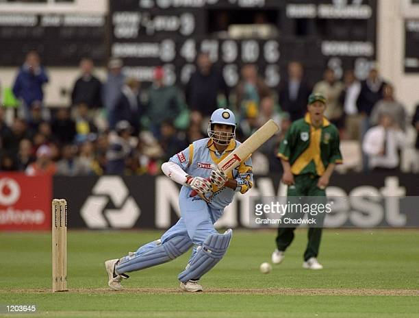 Sourav Ganguly of India in action during the Cricket World Cup Group A match against South Africa played at Hove England South Africa won by 4...