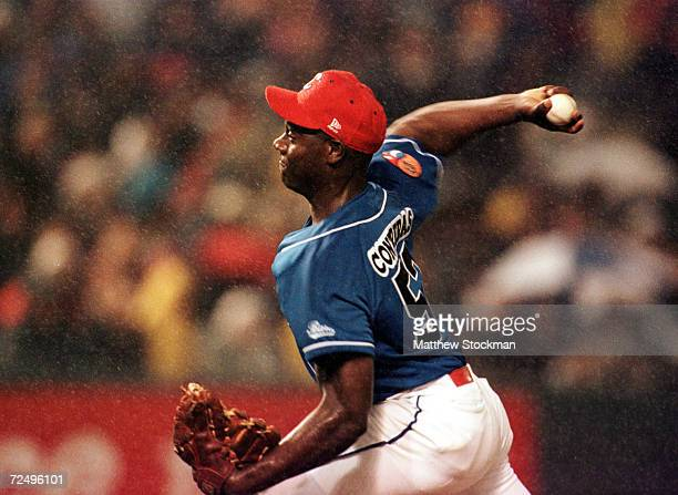 Starting pitcher Jose Contreras of the Cuba National Team throws against the Baltimore Orioles at Camden Yard in Baltimore Maryland Mandatory Credit...