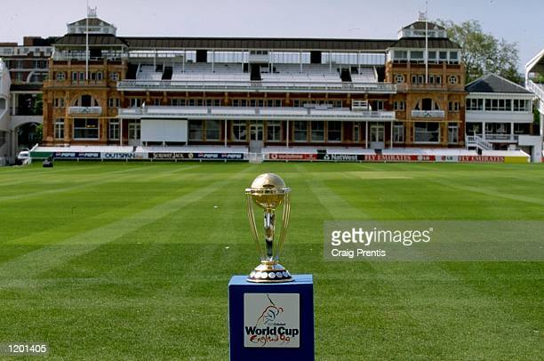 The Cricket World Cup trophy on display at Lords in London Mandatory Credit Craig Prentis /Allsport