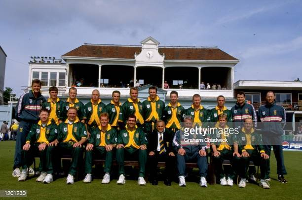 The South African World Cup squad Mandatory Credit Graham Chadwick /Allsport
