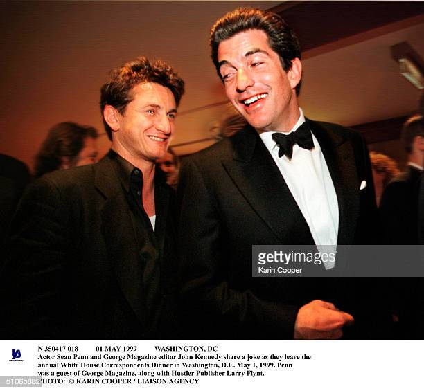 May 1999 Washington Dc Actor Sean Penn And George Magazine Editor John Kennedy Share A Joke As They Leave The Annual White House Correspondents...