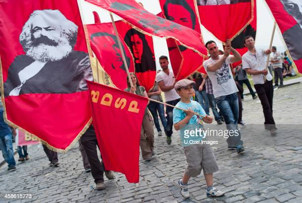 may 1st, international workers' day - karl marx stock photos and pictures