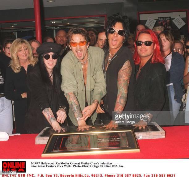 May 20 1997 Hollywood Motley Crue at Motley Crue's Walk Walk induction on Sunset Blvd