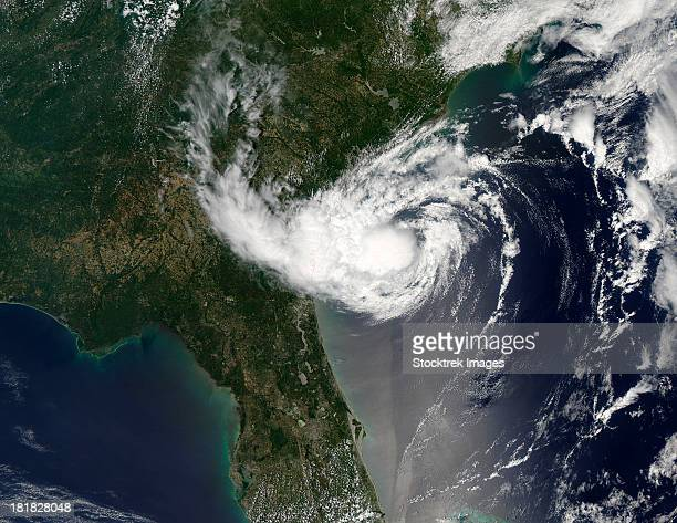 May 20, 2012 - Tropical Storm Alberto swirls off the coast of Georgia as a compact storm with a tight center of circulation.