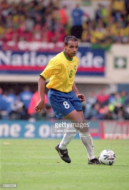 Emerson of Brazil in action during the International Friendly match against England at Wembley Stadium in London. The match was drawn 1-1. \...