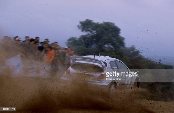 Francois Delecour of France in his Peugeot 206 during the sixth round of the World Rally Championships in Argentina Picture by Germano Gritti...