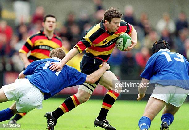 20 May 2000 Gordon D'Arcy Lansdowne in action against Denis Hickie left and Ray McIlreavy St Mary's AIB AllIreland League Rugby Final St Mary's v...