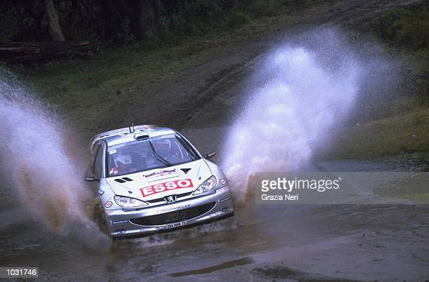 Marcus Gronholm of Finland in his Peugeot 206 during the sixth round of the World Rally Championships in Argentina Picture by Germano Gritti...